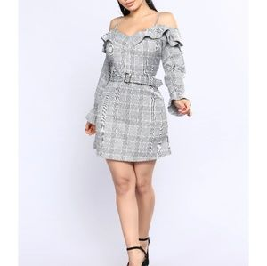 Wall Street Plaid Dress M